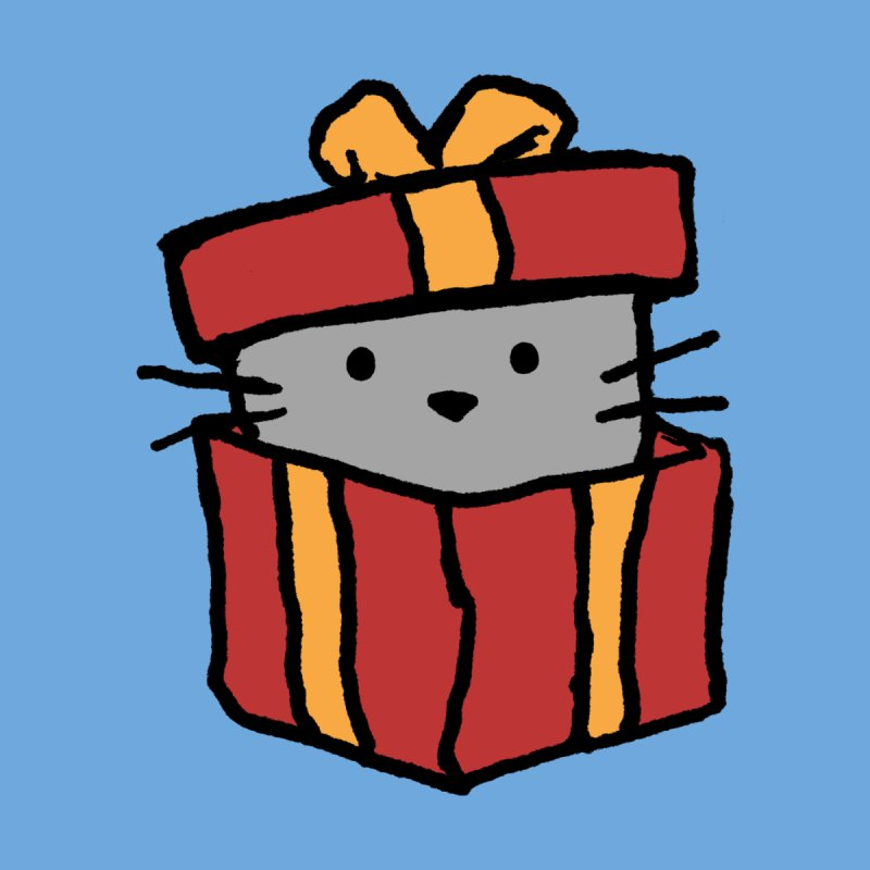A Cat in a Gift Box Accessories Sticker by Fox Shiver