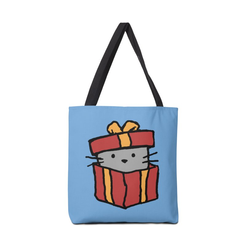 A Cat in a Gift Box Accessories Bag by Fox Shiver
