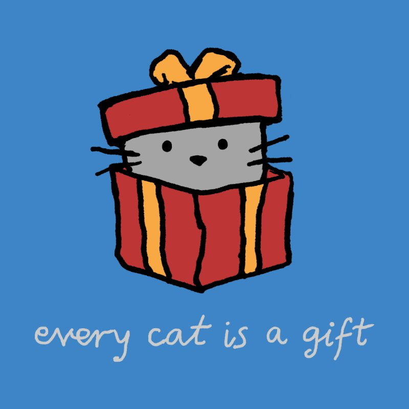 Every Cat is a Gift Men's T-Shirt by Fox Shiver