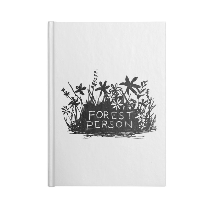 Forest Person Accessories Notebook by Fox Shiver