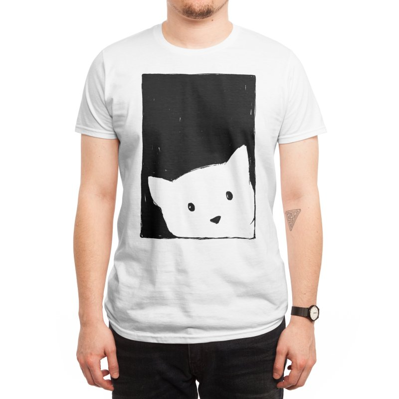 Cat Looking Out a Window Men's T-Shirt by Fox Shiver