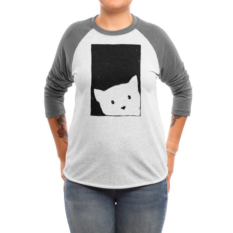 Cat Looking Out a Window Women's Longsleeve T-Shirt by Fox Shiver