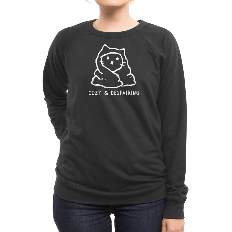 Cozy and Despairing Women's Sweatshirt by Fox Shiver