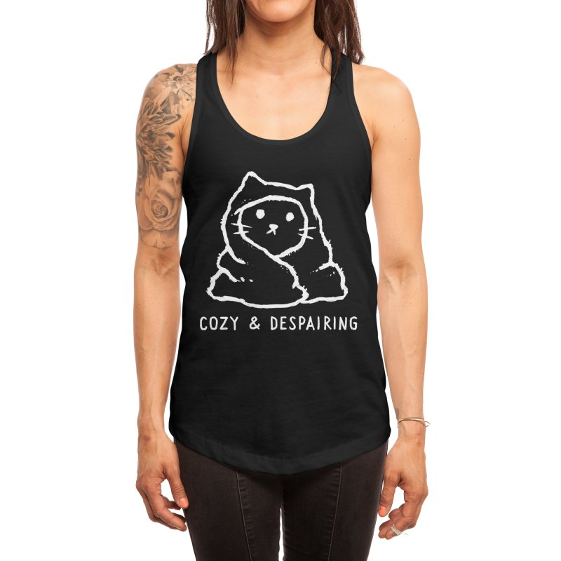 Cozy and Despairing Women's Tank by Fox Shiver
