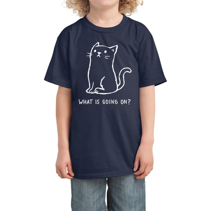 What is going on? Kids T-Shirt by Fox Shiver