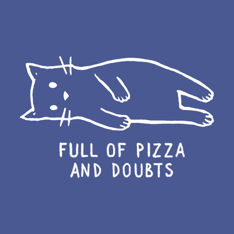 Full of Pizza and Doubts Kids Toddler Pullover Hoody by Fox Shiver