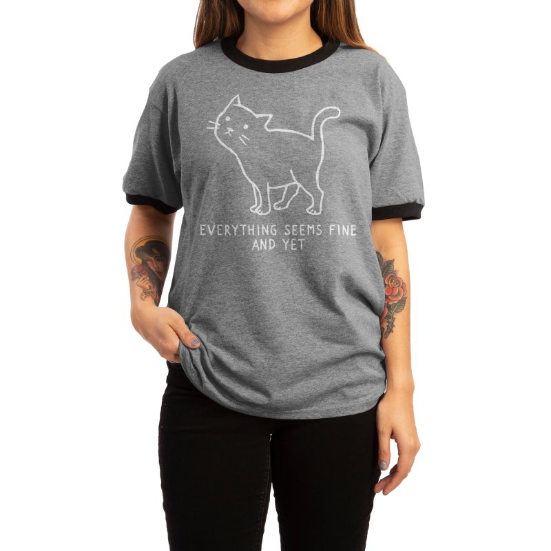 Everything seems fine. And yet. Women's T-Shirt by Fox Shiver