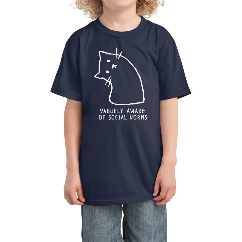 Vaguely Aware of Social Norms Kids T-Shirt by Fox Shiver