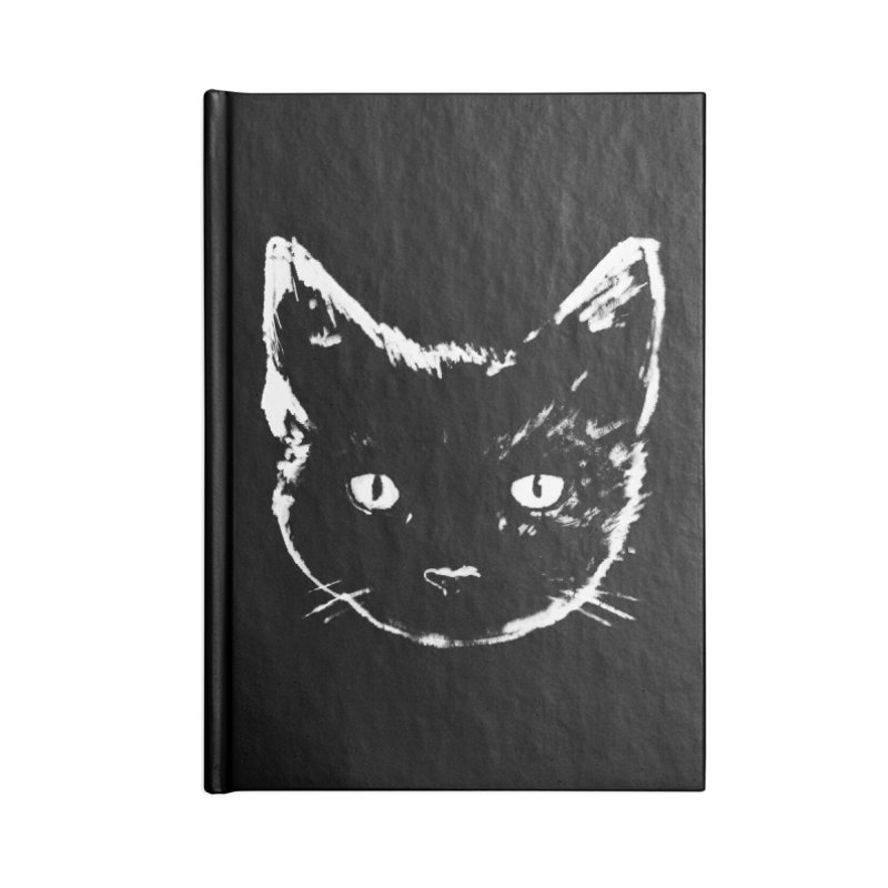 Black Cat Accessories Notebook by Fox Shiver