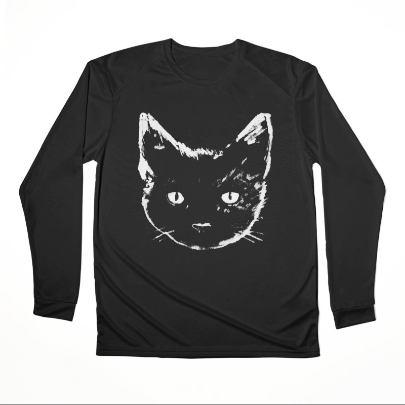 Black Cat Women's Longsleeve T-Shirt by Fox Shiver