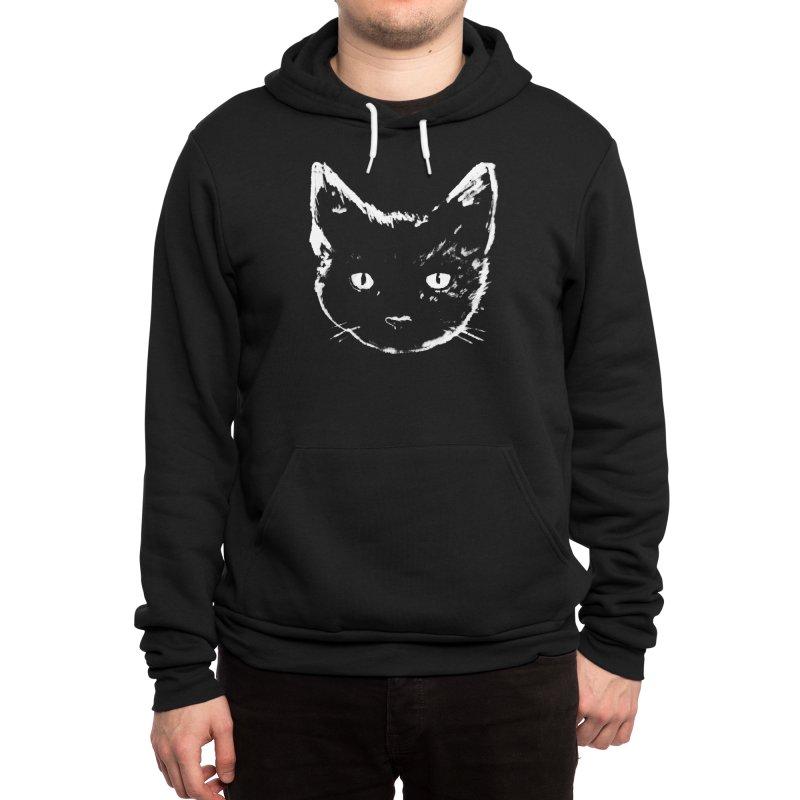 Black Cat Men's Pullover Hoody by Fox Shiver