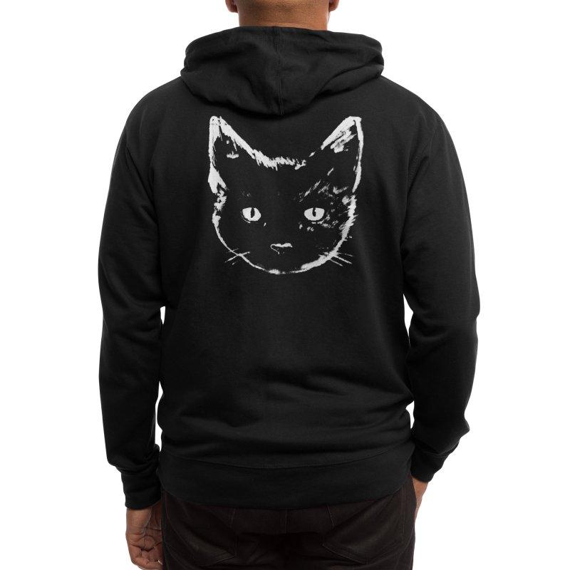 Black Cat Men's Zip-Up Hoody by Fox Shiver