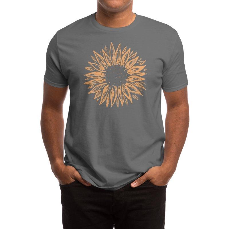 Sunflower Men's T-Shirt by Fox Shiver