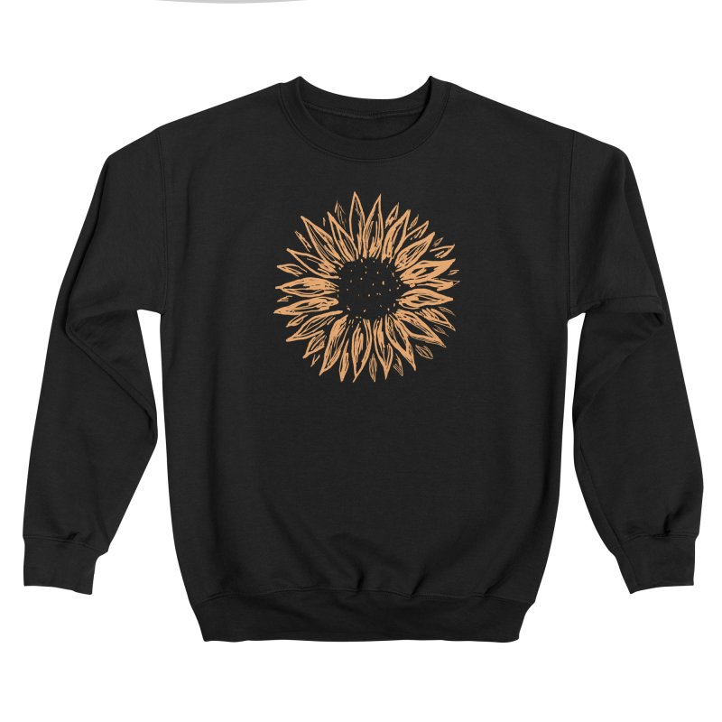 Sunflower Men's Sweatshirt by Fox Shiver