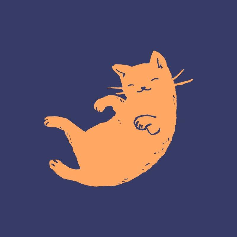 Ginger Cat Sleeping Men's Sweatshirt by Fox Shiver