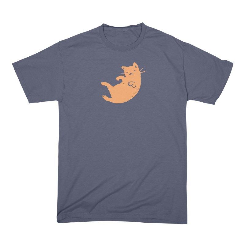 Ginger Cat Sleeping Men's T-Shirt by Fox Shiver