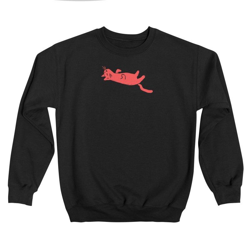 Red Cat Sleeping Men's Sweatshirt by Fox Shiver