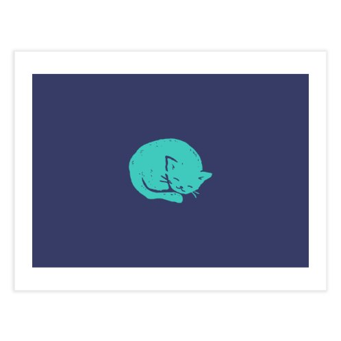 image for Turquoise Cat Sleeping