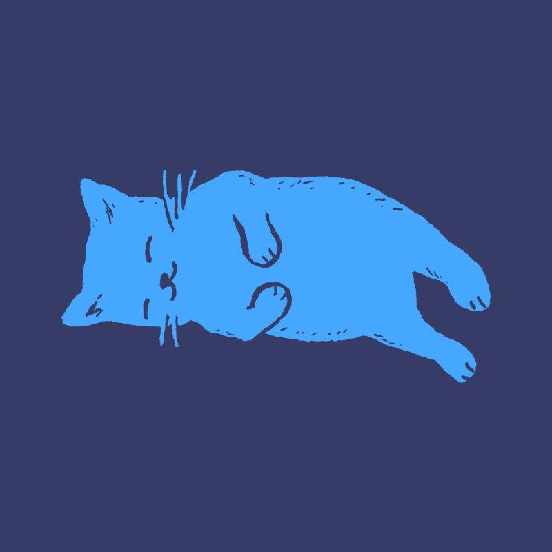 Blue Cat Sleeping Women's V-Neck by Fox Shiver