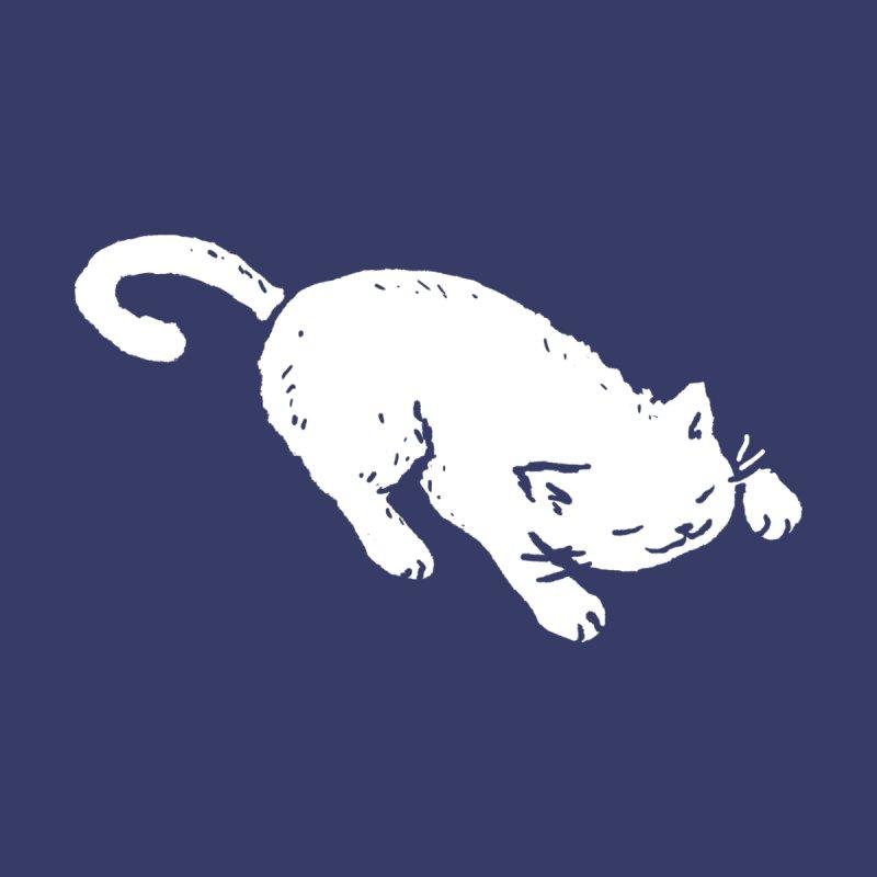 White Cat Sleeping Women's V-Neck by Fox Shiver