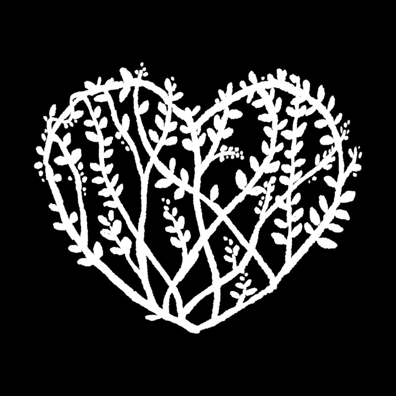Forest Heart Men's T-Shirt by Fox Shiver