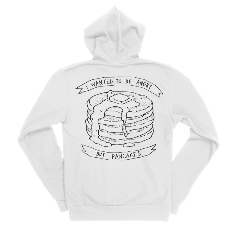 I Wanted to Be Angry But Pancakes Men's Sponge Fleece Zip-Up Hoody by Fox Shiver's Artist Shop