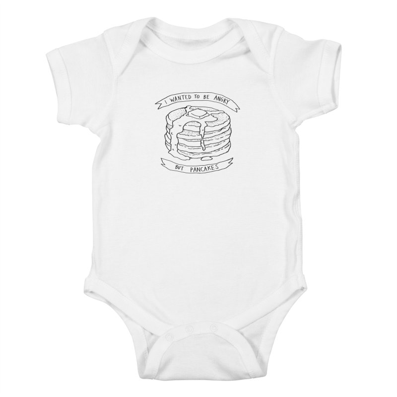 I Wanted to Be Angry But Pancakes Kids Baby Bodysuit by Fox Shiver's Artist Shop