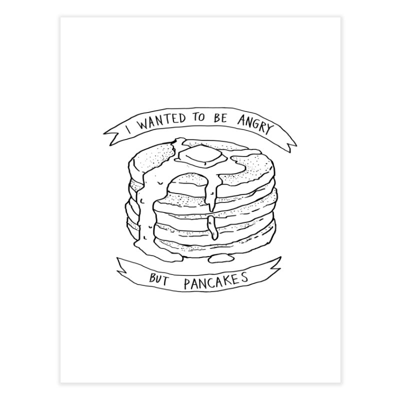 I Wanted to Be Angry But Pancakes Home Bath Mat by Fox Shiver's Artist Shop
