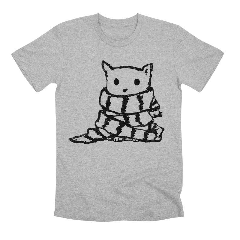 Keep Me Warm Men's Premium T-Shirt by Fox Shiver's Artist Shop