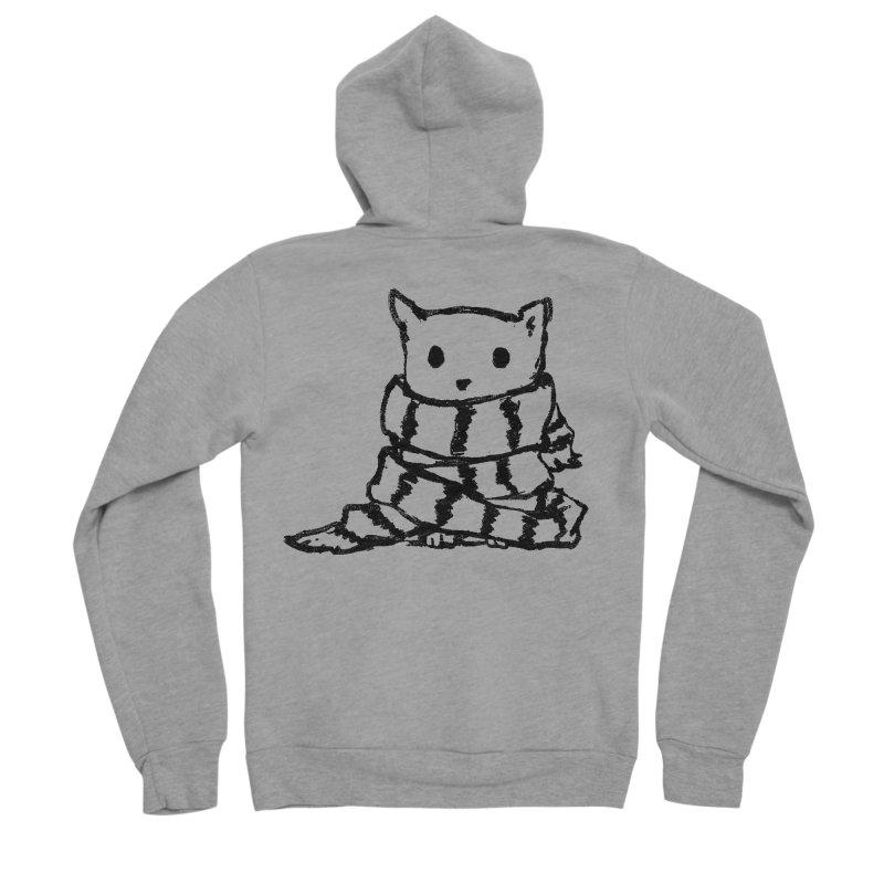 Keep Me Warm Men's Sponge Fleece Zip-Up Hoody by Fox Shiver's Artist Shop