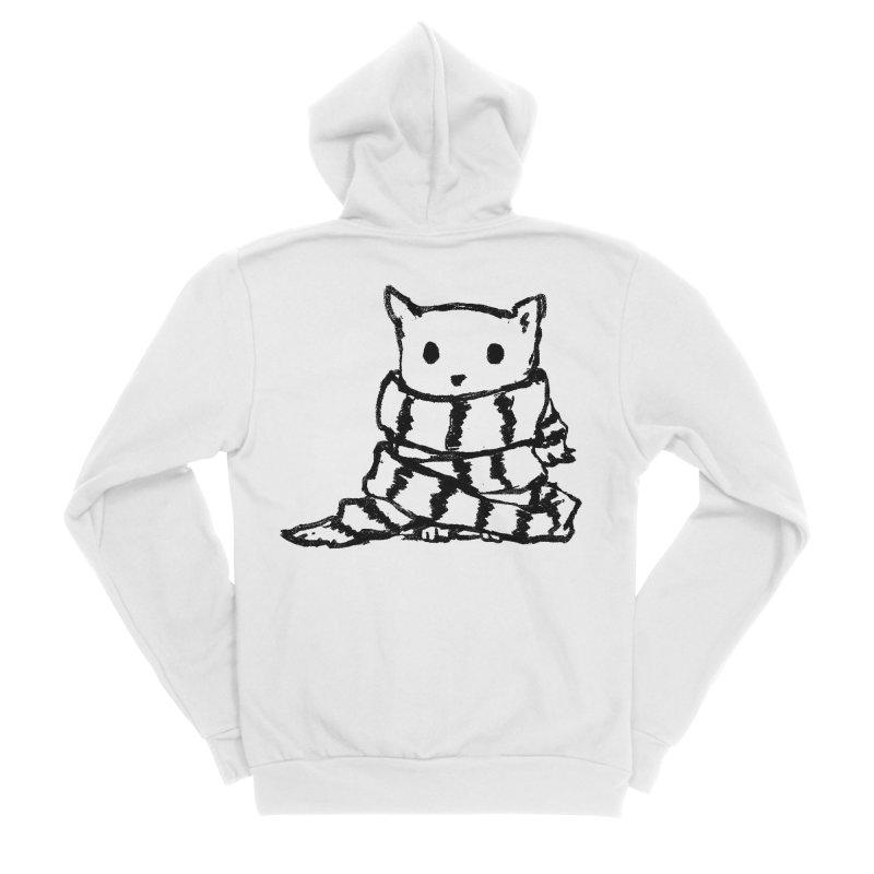 Keep Me Warm Women's Sponge Fleece Zip-Up Hoody by Fox Shiver's Artist Shop