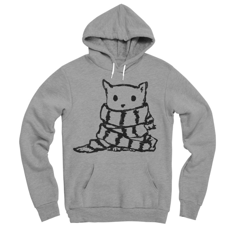 Keep Me Warm Women's Sponge Fleece Pullover Hoody by Fox Shiver's Artist Shop
