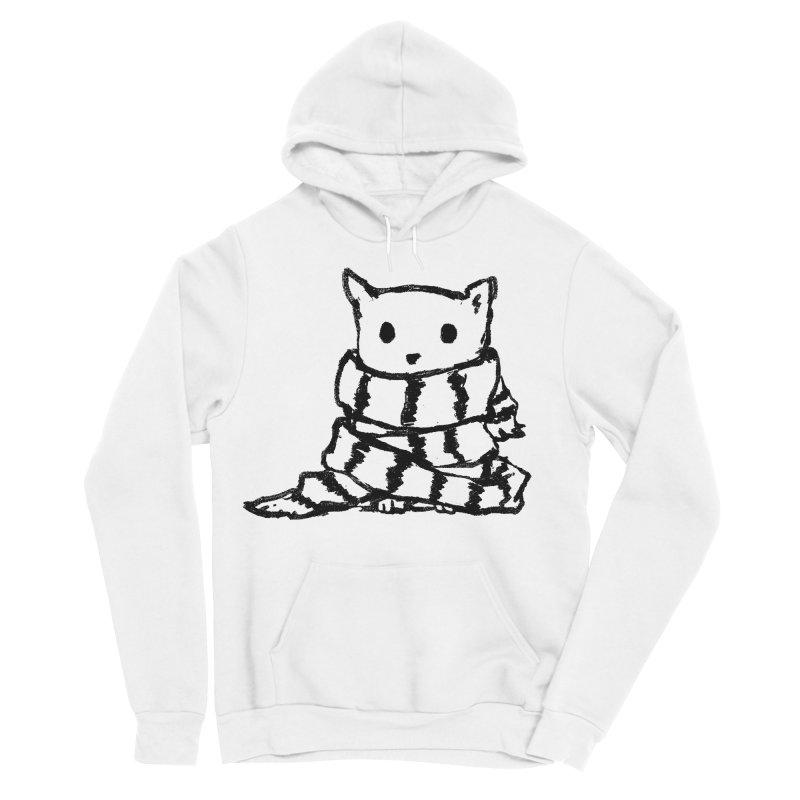 Keep Me Warm Men's Sponge Fleece Pullover Hoody by Fox Shiver's Artist Shop