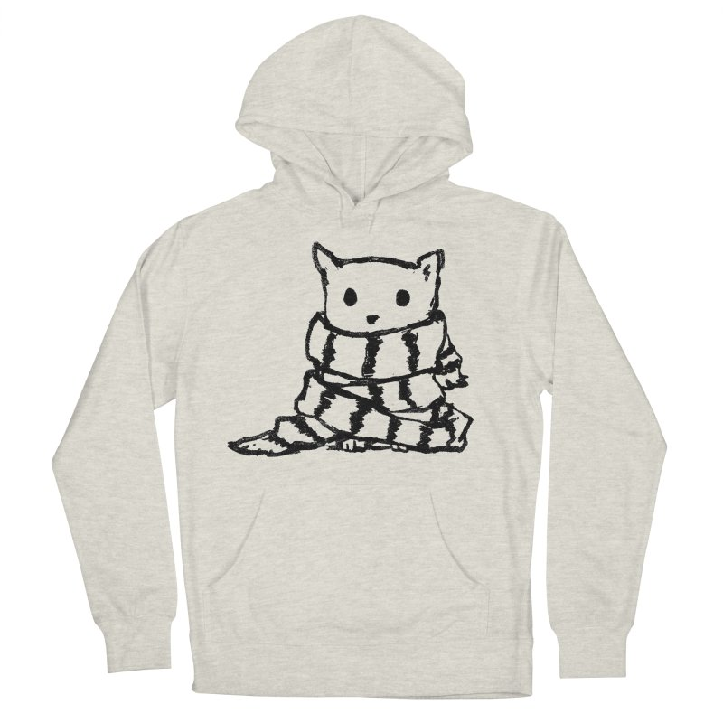 Keep Me Warm Women's French Terry Pullover Hoody by Fox Shiver's Artist Shop