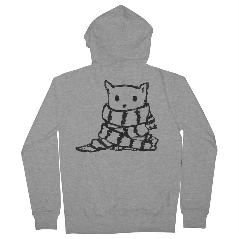 Keep Me Warm Men's French Terry Zip-Up Hoody by Fox Shiver's Artist Shop