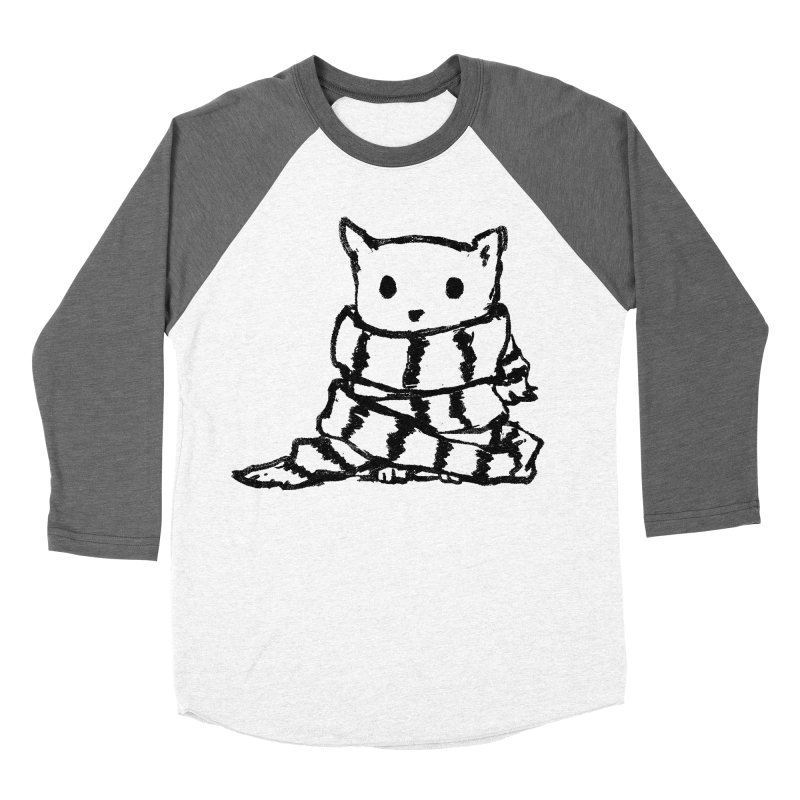 Keep Me Warm Men's Baseball Triblend Longsleeve T-Shirt by Fox Shiver's Artist Shop