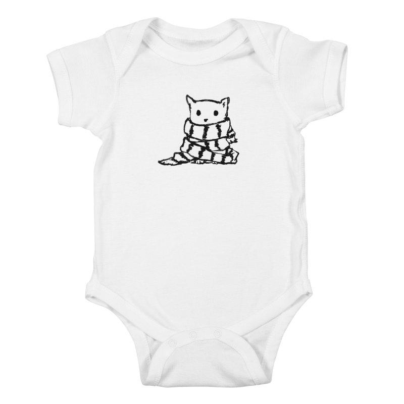 Keep Me Warm Kids Baby Bodysuit by Fox Shiver's Artist Shop