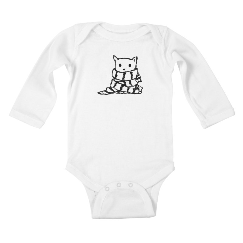 Keep Me Warm Kids Baby Longsleeve Bodysuit by Fox Shiver's Artist Shop