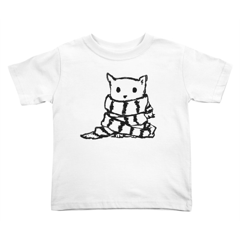 Keep Me Warm Kids Toddler T-Shirt by Fox Shiver's Artist Shop