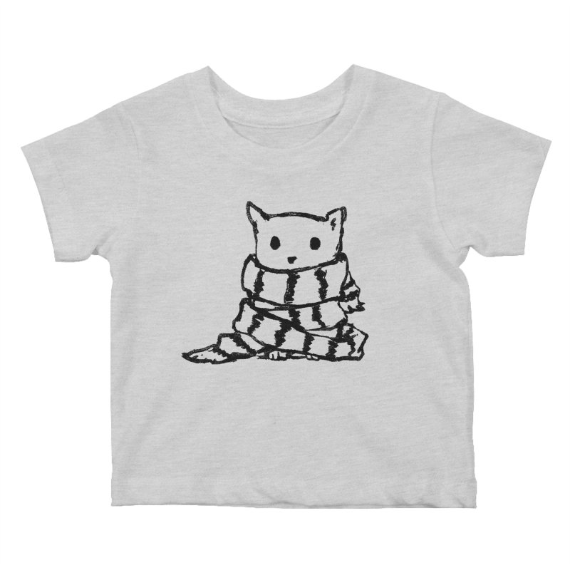 Keep Me Warm Kids Baby T-Shirt by Fox Shiver's Artist Shop
