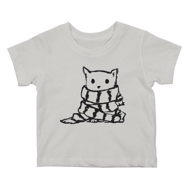 Keep Me Warm Kids Baby T-Shirt by Fox Shiver's Artist Shop