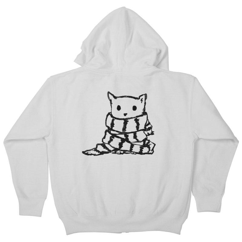 Keep Me Warm Kids Zip-Up Hoody by Fox Shiver's Artist Shop