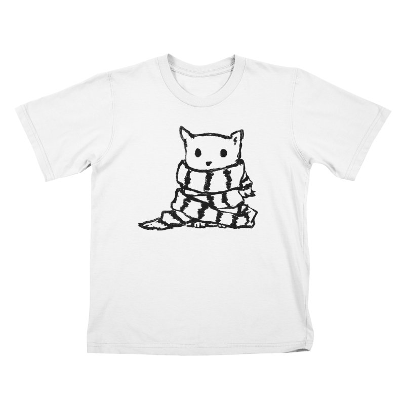 Keep Me Warm Kids T-Shirt by Fox Shiver's Artist Shop