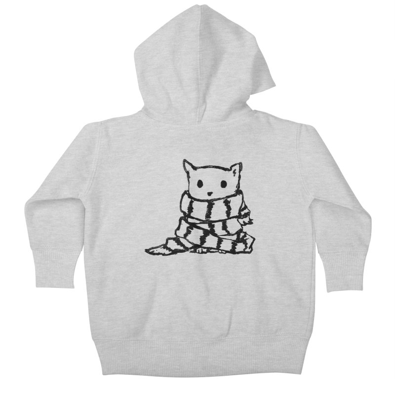 Keep Me Warm Kids Baby Zip-Up Hoody by Fox Shiver's Artist Shop