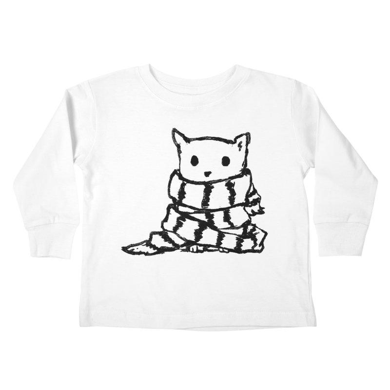 Keep Me Warm Kids Toddler Longsleeve T-Shirt by Fox Shiver's Artist Shop