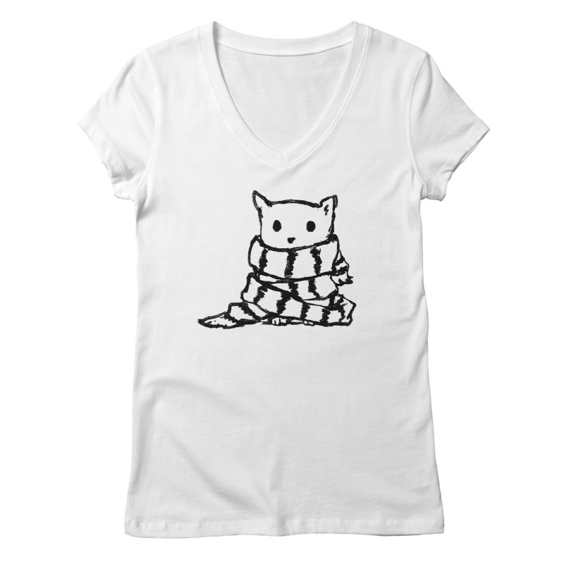 Keep Me Warm Women's V-Neck by Fox Shiver's Artist Shop