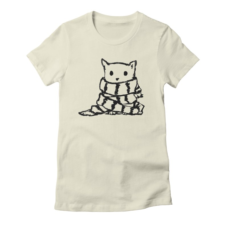 Keep Me Warm Women's Fitted T-Shirt by Fox Shiver's Artist Shop