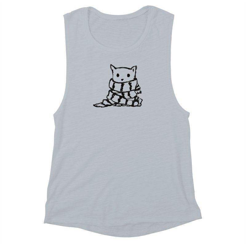 Keep Me Warm Women's Muscle Tank by Fox Shiver's Artist Shop