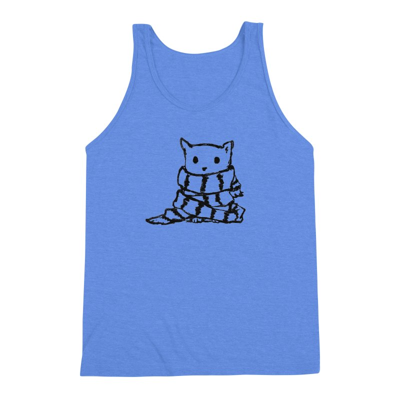 Keep Me Warm Men's Triblend Tank by Fox Shiver's Artist Shop
