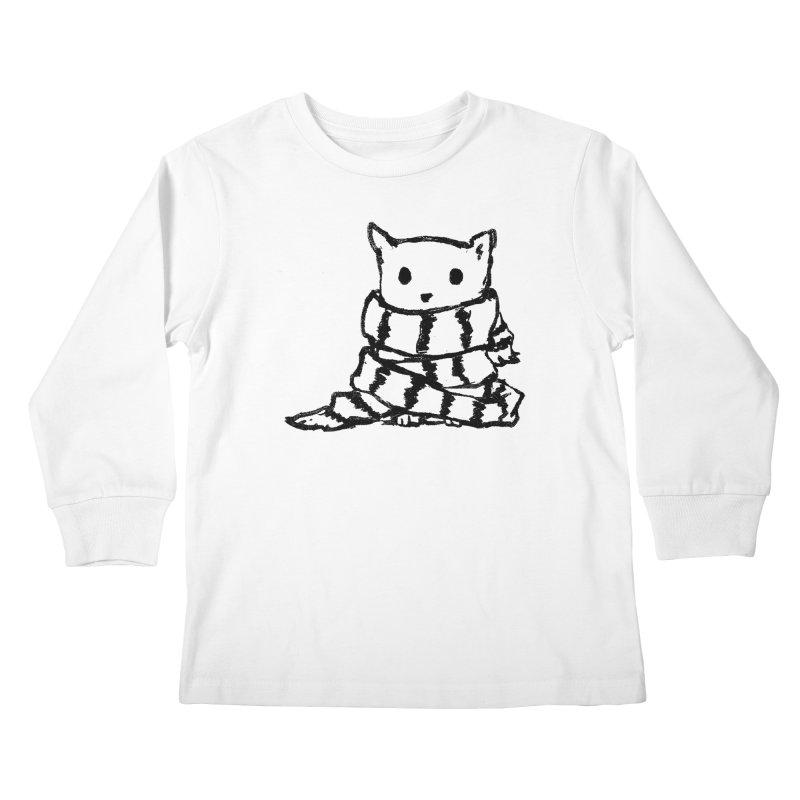 Keep Me Warm Kids Longsleeve T-Shirt by Fox Shiver's Artist Shop